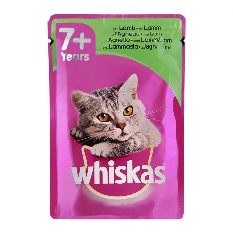 Whiskas Lamb In Jelly Cat Food, 7+ Years, 100g