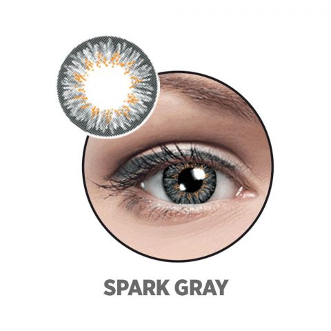 Optiano Soft Color Contact Lenses, Spark Grey