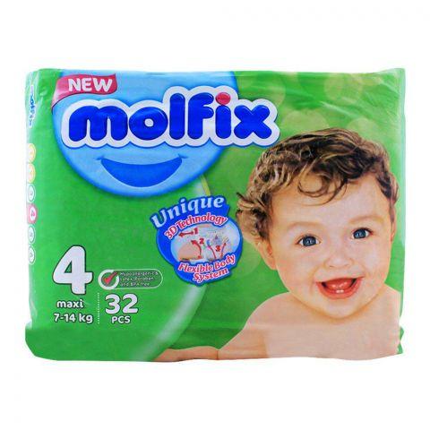 Molfix 4 Maxi 7-14 KG, 32 PCS