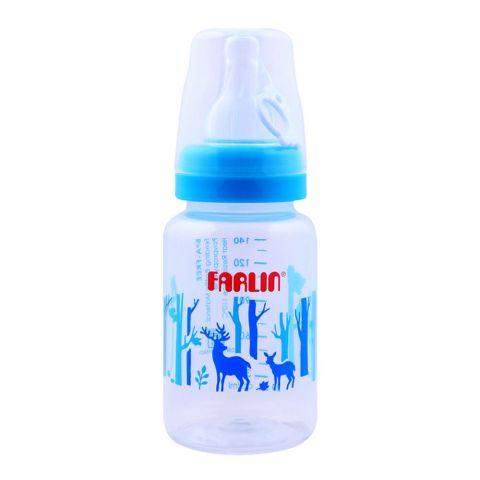 Farlin MomFit PP Standard Neck Feeding Bottle, 0+ Months, Blue/Forest, 140ml, AB-41011-B