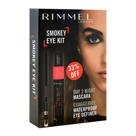 39070be7470 Rimmel Day 2 Night Mascara + Exaggerate Waterproof Eye Definer 33% OFF