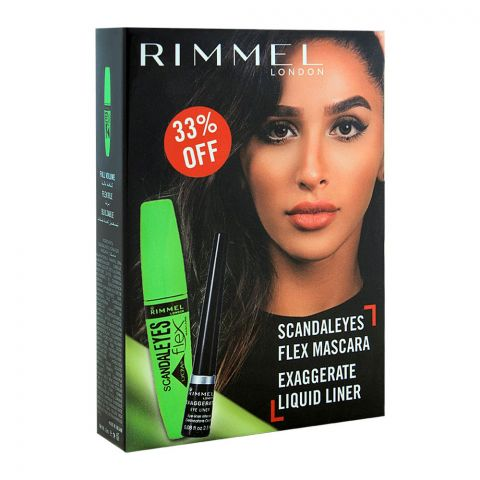 Rimmel Scandaleyes Flex Mascara + Exaggerate Liquid Liner 33% OFF
