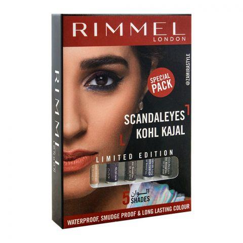 Rimmel Scandaleyes Kohl Kajal 5 Sahdes Pack, Limited Edition Special Pack