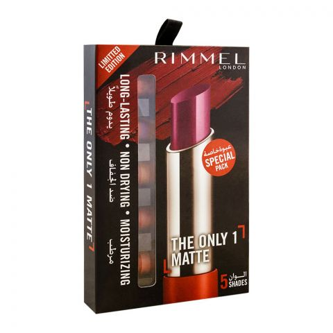 Rimmel The Only 1 Matte Lipstick 5 Shades Pack