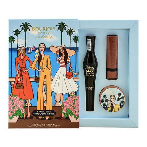 Bourjois La Riviera Blusher,Mascara And Lipstick Gift Set