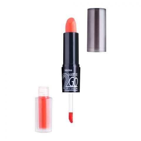 Mistine Matte 2 Go Lip Color, 02, Orange