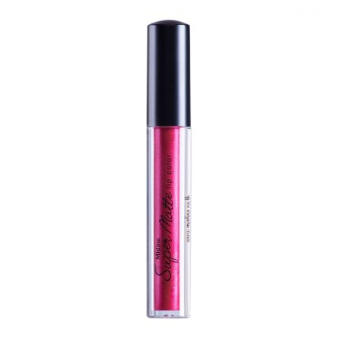 Mistine Super Matte Metallic Lip Color, 11, Red Magenta