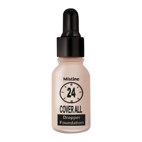 Mistine 24 Cover All Dropper Foundation, F1, Ivory
