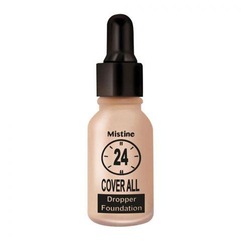 Mistine 24 Cover All Dropper Foundation, F4, Honey