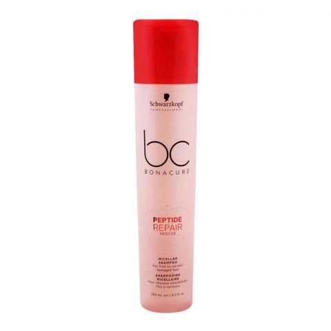Schwarzkopf BC Bonacure Peptide Repair Rescue Micellar Shampoo, 250ml