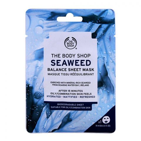 The Body Shop Seaweed Balance Sheet Mask, 18ml