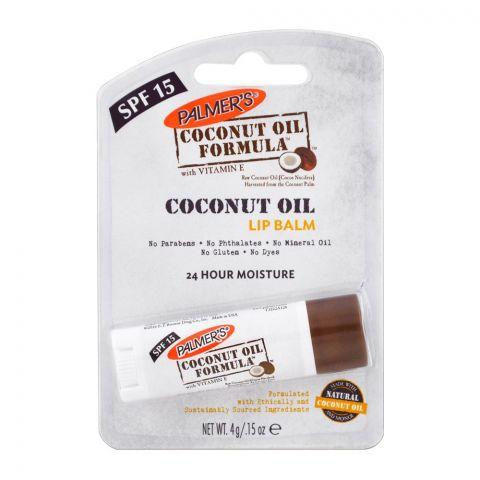 Palmer's Coconut Oil Lip Balm, SPF 15, With Vitamin E, 4g