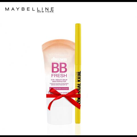 Maybelline Baby Skin BB Cream Light Skin + The Colossal Kajal Pencil Black