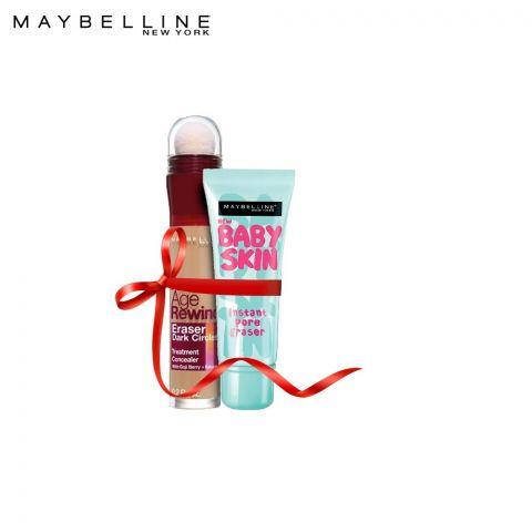 Maybelline Instant Age Rewind Concealer 130 Medium + Baby Skin Pore Eraser Primer