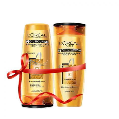 L'Oreal Paris 6 Oil Nourish Shampoo 175ml + Conditioner 175ml Rs. 100 OFF