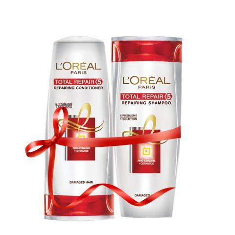 L'Oreal Paris Total Repair 5 Shampoo 175ml + Conditioner 175ml Rs. 100 OFF