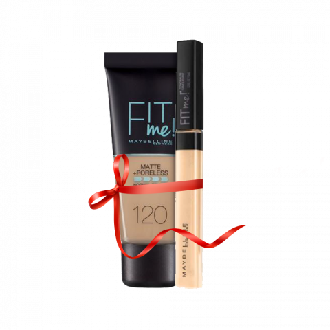 Maybelline Fit Me Liquid Foundation Matte & Poreless 120 Classic Ivory + Concealer 20 Sand