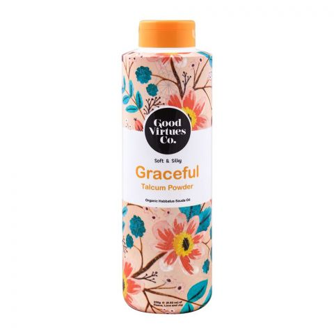 Good Virtues Co Soft & Silky Graceful Talcum Powder, 250g