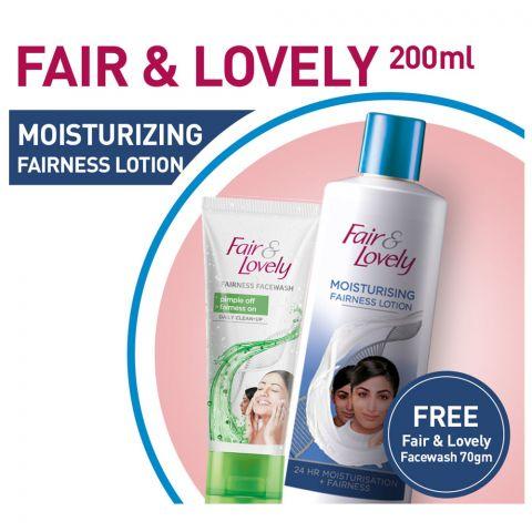 Fair & Lovely Lotion + Fair & Lovely Facewah 70gm