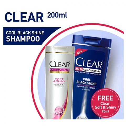 Clear Cool Black 200ml + Clear Soft Shine 90ml Free