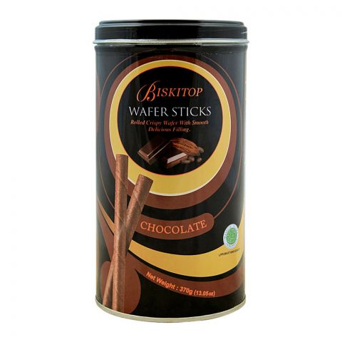 Biskitop Wafer Sticks, Chocolate, 370g