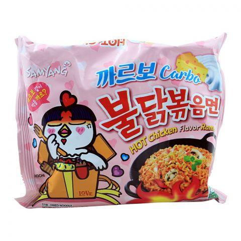 Samyang Carbo Hot Chicken Flavor Ramen Noodle, Stir-Fried, 130g