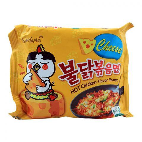 Samyang Cheese Hot Chicken Flavor Ramen Noodle, Stir-Fried, 140g