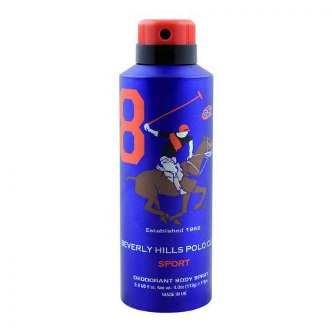 Beverly Hills Polo Club Sport 8 Deodorant Body Spray, 175ml