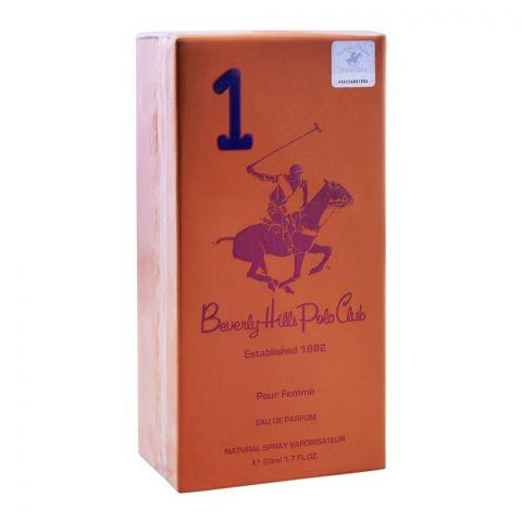 Beverly Hills Polo Club 1 Pour Femme Eau De Parfum, 50ml