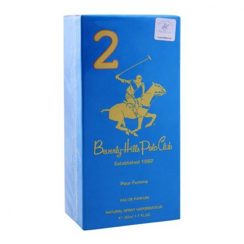 Beverly Hills Polo Club 2 Pour Femme Eau De Parfum, 50ml