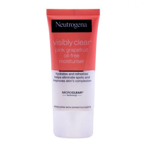Neutrogena Visibly Clear Pink Grapefruit Moisturiser, Oil Free, 50ml