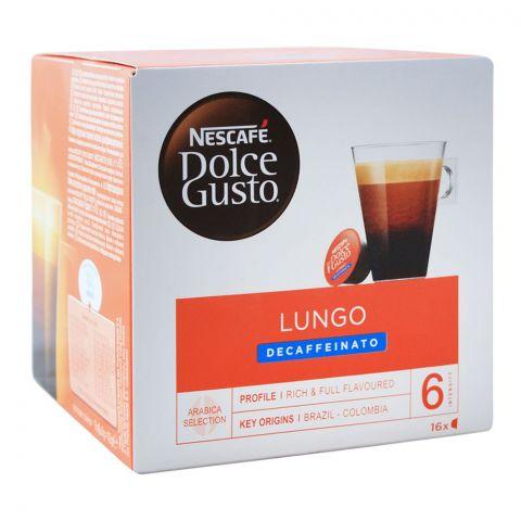 Nescafe Dolce Gusto Lungo Decaffeinato Capsules, 16 Single Serve Pods