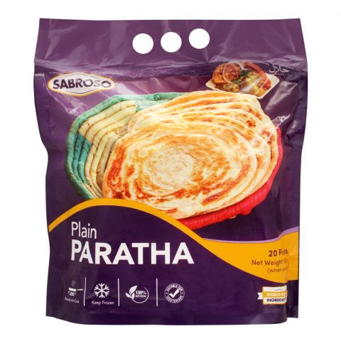 Sabroso Plain Paratha, 20 Pieces, 1600g