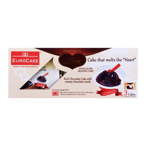 Eurocake Lova Chocolate Molten Cake, 3's Box