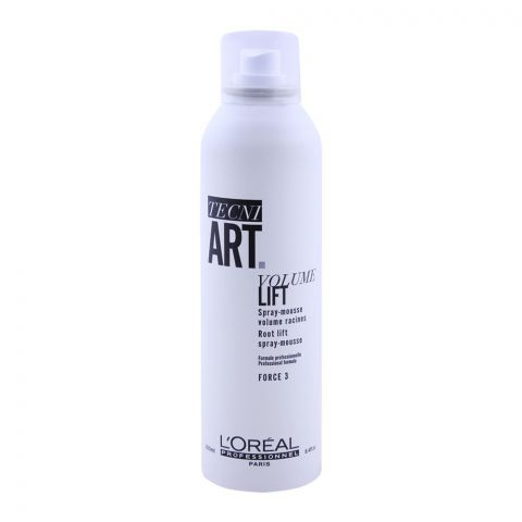 L'Oreal Professionnel Tecni Art Volume Lift Root Lift Spray Mousse, Force 3, 250ml