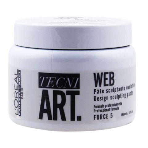L'Oreal Professionnel Tecni Art Web Design Sculpting Paste, Force 5, 150ml
