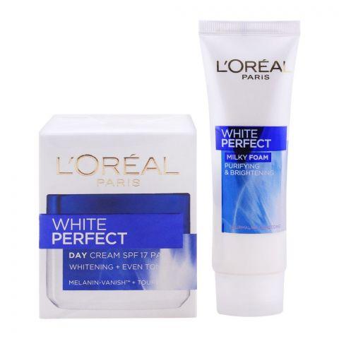 L'Oreal Paris White Perfect Day Cream + FREE Milky Foam
