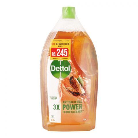 Dettol Antibacterial Power Oud Floor Cleaner, Free Cleaning Cloth, 1.8 Liters