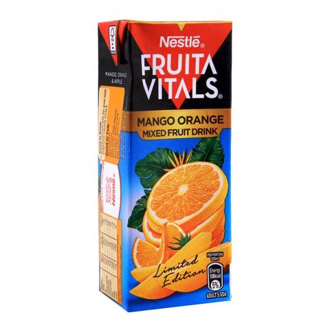 Nestle Fruita Vitals Mango Orange Mixed Fruit Drink, 200ml