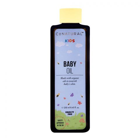 CoNatural Kids Baby Oil Cruelty Free, 250ml