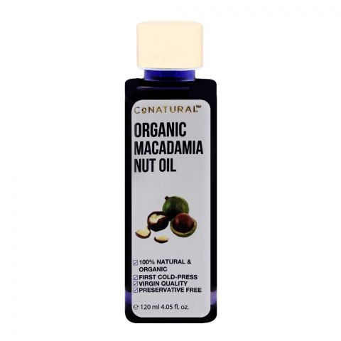 CoNatural Organic Macadamia Nut Oil, 120ml