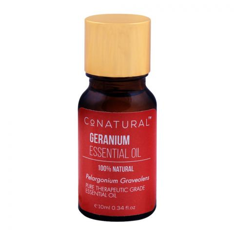 CoNatural Geranium Essential Oil, 100% Natural, 10ml