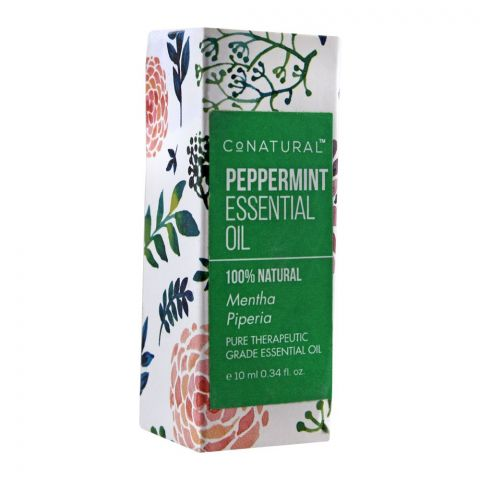 CoNatural Peppermint Essential Oil, Therapeutic Grade Essential Oil, 10ml