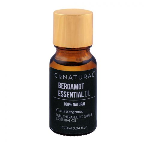 CoNatural Bergamot Essential Oil, 100% Natural, 10ml