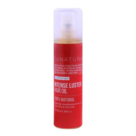 CoNatural Intense Luster Hair Oil, For All Hair Types, 100ml