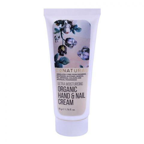 CoNatural Ultra Moisturising Organic Hand & Nail Cream, 50g