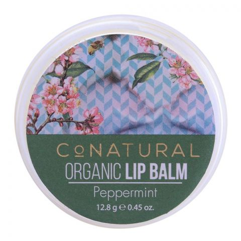 CoNatural Organic Lip Balm, Peppermint, 12.8g