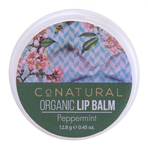 CoNatural Organic Lip Balm, Peppermint, 12.8g