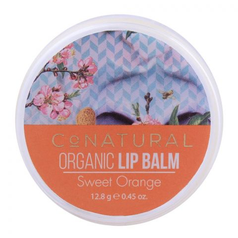CoNatural Organic Lip Balm, Sweet Orange, 12.8g