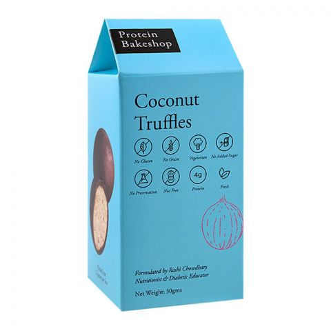 Protein Bakeshop Coconut Truffles 30g, Gluten Free
